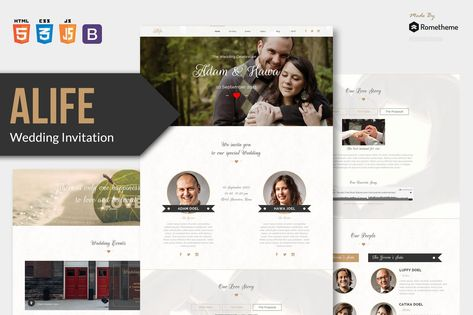 Wedding Invitation HTML Template