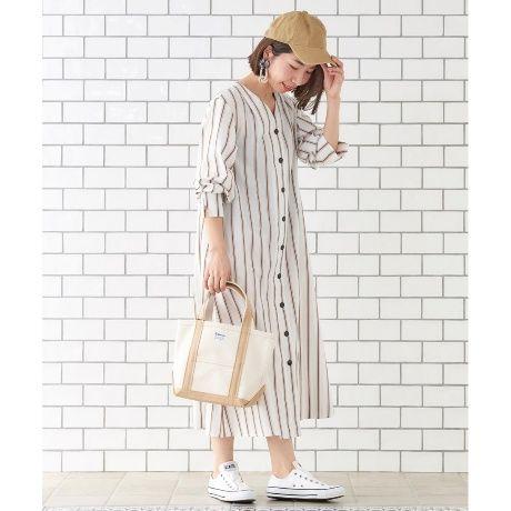 マルチストライプロングシャツワンピース ルクールブラン le coeur blanc ファッション通販 マルイウェブチャネル to506 157 42 01 シャツワンピース ロング シャツワンピース ロングシャツ