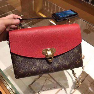 b5fc87c503b8 Louis Vuitton Monogram Saint Placide Chain Bag M43713 Cerise