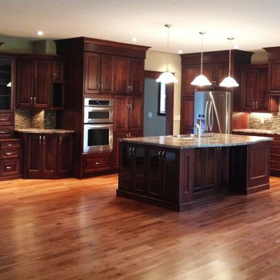 Hardwood Floors In Kitchens Pictures  Cherry Cabinets With Wood Brilliant Cherrywood Kitchen Designs Design Inspiration