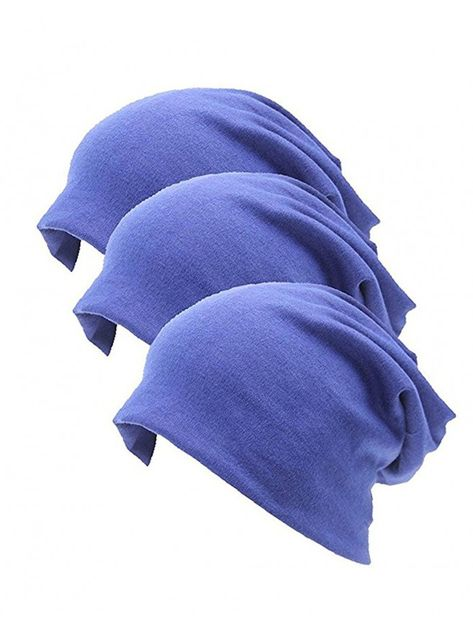 6de027e07c8 Unisex Indoors 100% Cotton Beanie- Soft Sleep Cap For Hairloss- Cancer-  Chemo - Blue - CX17AAGOO66 - Hats   Caps