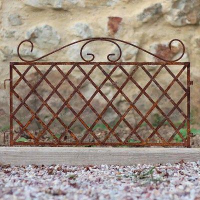 Bordure Metal A Croisillons En Fer Brut Long 58cm Bordure Metal