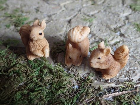 Miniature Dollhouse FAIRY GARDEN Accessories Squirrel Buddha Animal