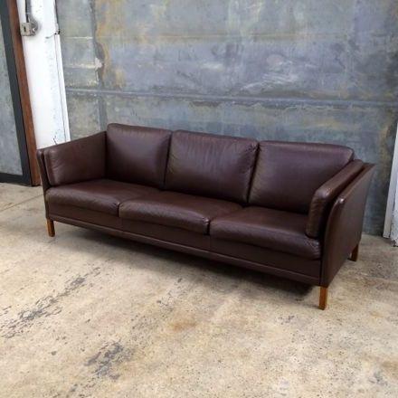 Mrmod Danish Modern MidCentury Sofa Settee Leather 3 Seater Mr Brown Chocolat Furniture Christchurch NewZealand Mogen Hansen   | Home | Pinterest | Danish, ...