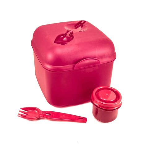 www.lefantasiedicasa.com Lunch Box Porta merenda Pranzo o Colazione in plastica Alimentare Rosso e Blu da Bambino con Stampa Cars Licenza Disney.