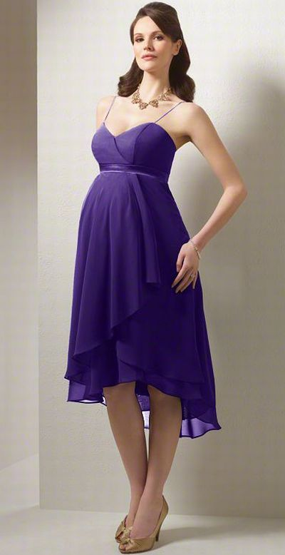 Alfred Angelo High Low Maternity Bridesmaid Dress 6471MA in