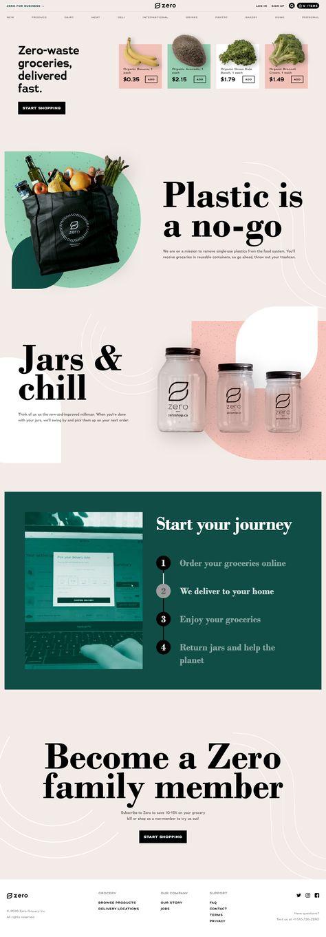 Zero landing page design inspiration - Lapa Ninja