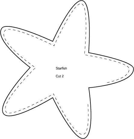 Starfish Coloring Pages To Print, also I could use this as a pattern to make a starfish change purse, putting the zipper in the middle of the starfish AWF