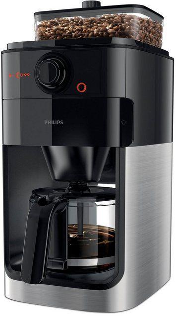 Kaffeemaschine Mit Mahlwerk Grind Brew Hd7767 00 Aromaversiegeltes Bohnenfach Edelstahl Schwarz Philips Kaffeemaschine Kaffeemaschine Und Filterkaffeemaschine