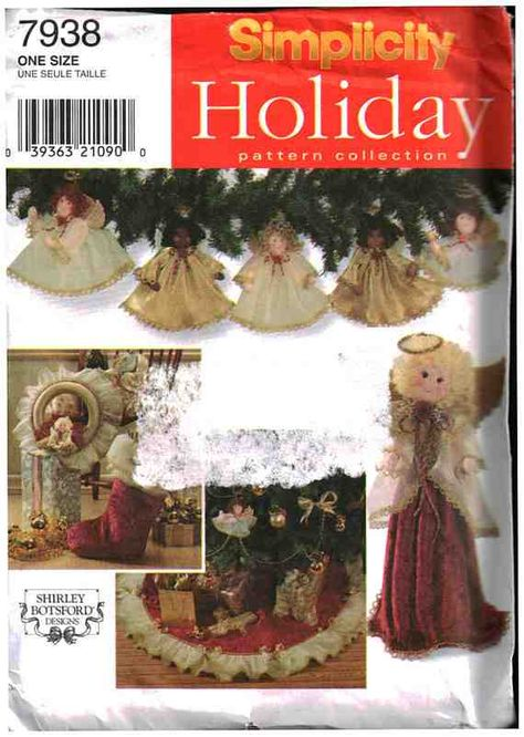 Fabric Crochet Christmas Wreath TreeSkirt pattern basket Shirley Botsford FF