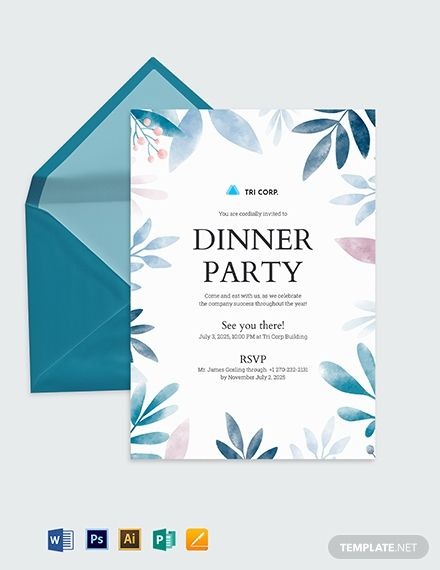 Business Meeting Invitation Template Free Pdf Word Psd Indesign Apple Pages Illustrator Publisher Outlook Invitation Template Dinner Invitation Template Rehearsal Dinner Invitation Template