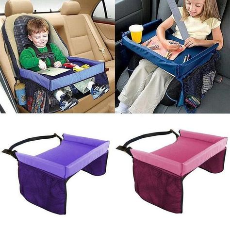 Buy Kids Baby Car Seat Snack Toy Tray Baby Stroller Waterproof Food Table Travel Drawing Play at Wish - Shopping Made Fun Car Seat Tray, Baby Car Seats, Car Snacks, Car Seat Accessories, Seat Storage, Baby Hacks, Travel With Kids, Childcare, Kids And Parenting