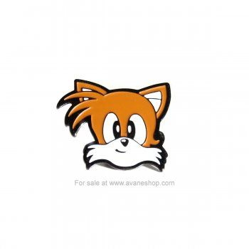 Sonic The Hedgehog Tails Face Enamel Pin 90s Sega Sonic Sonic Face Sonic The Hedgehog