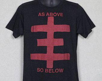 346b5184 Psychic TV t-shirt, rare OOP tee shirt, psychic cross, Throbbing Gristle,  Genesis P-Orridge Coil Chris & Cosey PTV3, punk, As Above So Below