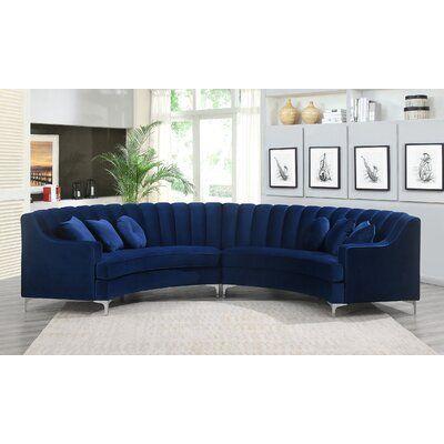 Everly Quinn Keele 142 Symmetrical Modular Sectional Fabric Blue Modular Sectional Sectional Sofa Furniture