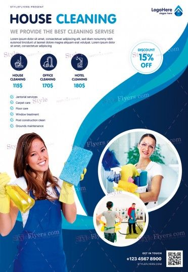 Cleaning Service Flyer Template Psd