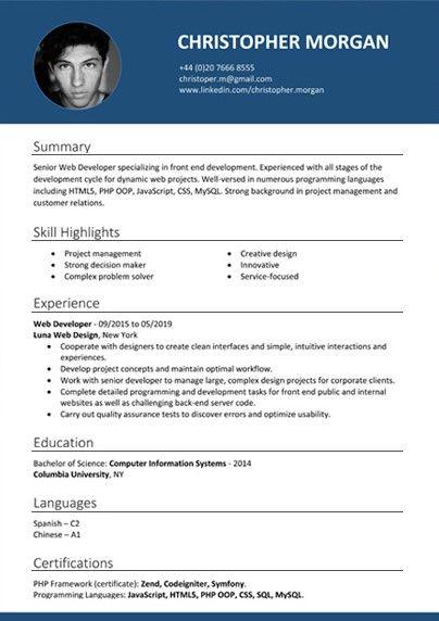 Exemple De Cv Pour Job Etudiant Gratuit A Telecharger Cv Word Cv Words Word Doc Resume Format Download