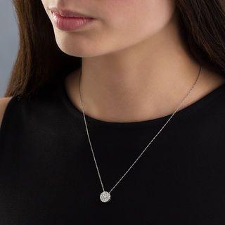 1 2 Ct T W Diamond Carnation Cluster Pendant In 10k White Gold Zales White Gold Necklace Diamond Cluster Pendant Pendant