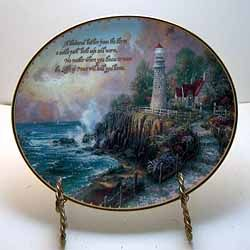 A beautiful plate from artist Thomas Kinkade. Entitled The Light of Peace itu0027s the first & 13 best Thomas Kinkade By the Sea Plates images on Pinterest ...