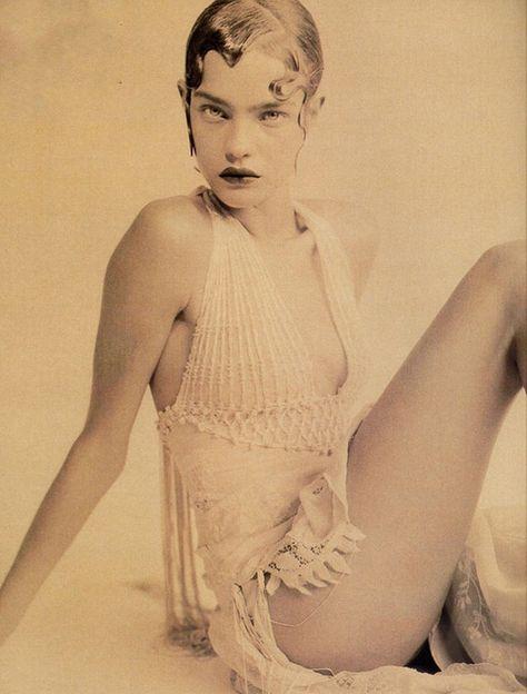 Natalia Vodianova photographed by Paolo Roversi for Vogue Italia.