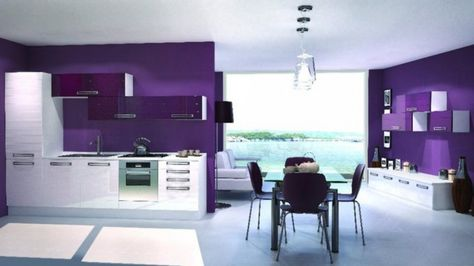 pareti-viola-cucina-moderna.jpg (979×550) | Project T&P | Pinterest