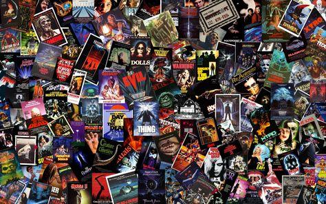 Horror Movies Wallpaper: Massive B-Horror Collage Wallpaper
