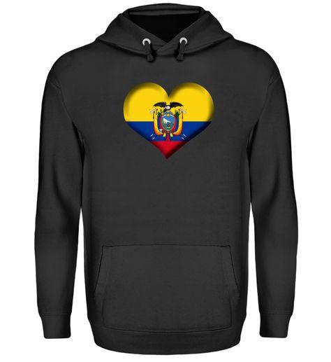 Ecuador Herz Flagge