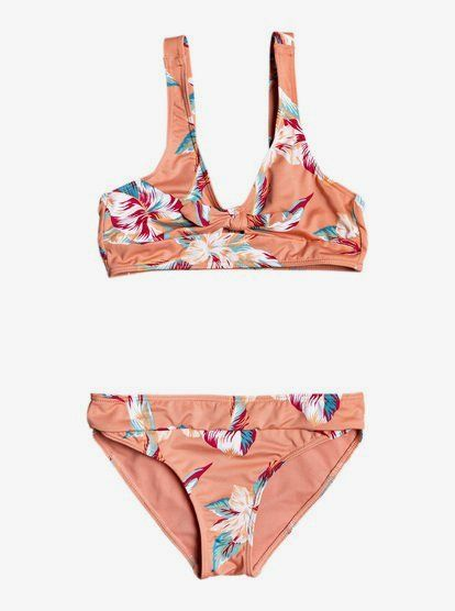Roxy Girls Little Tropics Athletic Set Two Piece Swimsuit