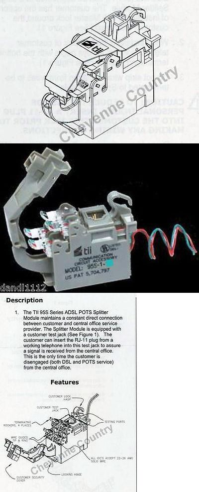 Dsl Phone Cables Rj 11 67857 Tii 95s 1 12 Whole House Nid Dsl Filter Adsl Pots With Instruction Guide Buy It Now Only 19 4 Phone Cables Filters Dsl Modem