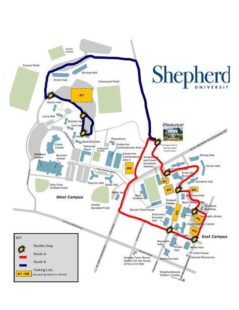 shepherd university campus map Jefferson County West Virginia Shepherdstown West Virginia shepherd university campus map