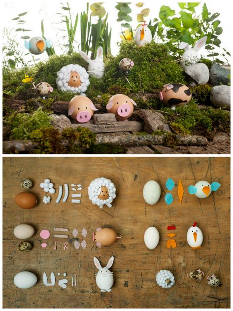 DIY Animal Easter Eggs.Have fun making Animal Easter Eggs using materials you probably have around the house: pompoms, tissue paper, felt, craft foam etc… For many more Easter DIYs from a Giant Peeps Cake to Balloon Easter Eggs go here. The tutorial...