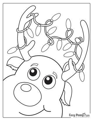 Christmas Lights Reindeer Coloring Page 552324341801766622 Merry Christmas Coloring Pages Christmas Tree Coloring Page Free Christmas Coloring Pages