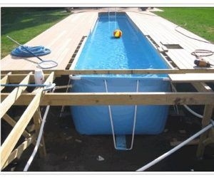 Interior Lap Pool Dimensions And Cost Lap Pools Swimming Pools And Backyard Throughout Lap Pools Cost Portable Swimming Pools Portable Pools Diy Swimming Pool