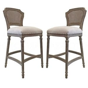 Provence Chelsea Cane Back Counter Stools In 2019 Counter Stools Stool Wicker Bar Stools