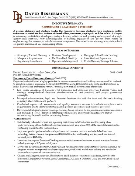 Bank Ceo Resume Resume References Resume Template Architect Resume Sample