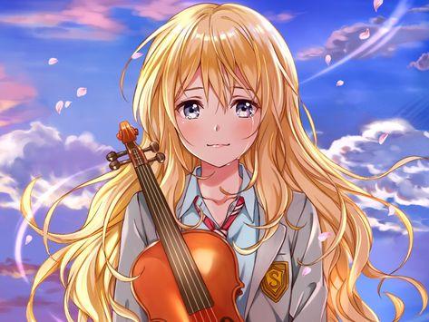 Desktop Wallpaper Kaori Miyazono, Anime Girl, Crying, Hd Image, Picture, Background, Ejn3jc