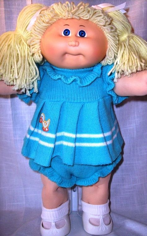 VIntage 1985 Coleco Cabbage Patch Kid w Lemon Hair 2 Ponies in Dolls & Bears, Dolls, By Brand, Company, Character | eBay