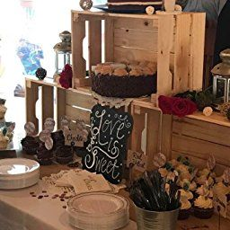 100pcs Rustic Wooden Love Heart Wedding Table Scatter Decoration Wood Craft#