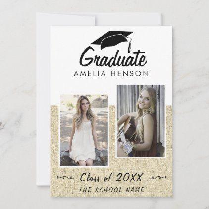 Rustic Graduate Photo Collage Graduation Announcement Zazzle Com Photo Graduation Invitations Graduation Announcements Photo Graduation Announcement