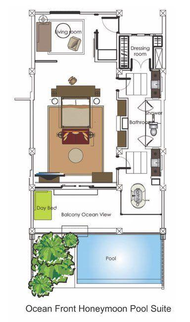 Bali Resorts Bali Suites Luxury All Inclusive Ocean View Beachfront Hotel Room Plan Hotel Plan Hotel Suite Floor Plan