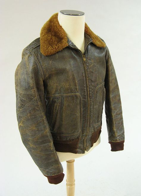 Bomber jacket, American, ca. 1941, KSUM 2007.13.2.  Herman A. Wagner wore this jacket in World War II as a 1st Lieutenant in the Army Air Corps, which would become the Air Force.