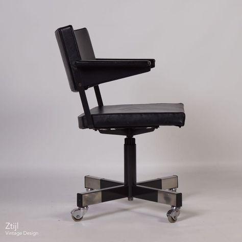 Vintage Design Bureaustoel.Gispen Bureaustoel Door Cordemeyer Model 1647 Vintage Stoelen