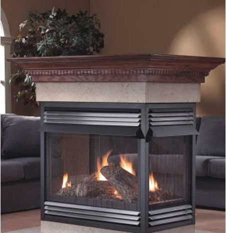 Home Fireplaces Gas Fireplaces Napoleon Gvf40 Multi View Vent Free Fireplace 4 Open Sides Gvf40 Gas Fireplace Vent Free Gas Fireplace Fireplace