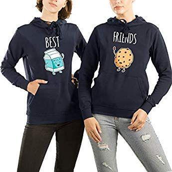 newest fb324 f1826 VivaMake® 2 Best Friends Hoodie Pullover Set Für Damen mit ...