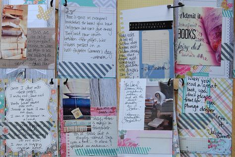 Book Love mini book---inside pages - Scrapbook.com by Lori Wilbanks