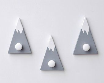 Wall Hooks For Kids Mountain Wall Hook Mountain Peak Coat Etsy Adventure Nursery Decor Wall Hooks Woodland Nursery Decor