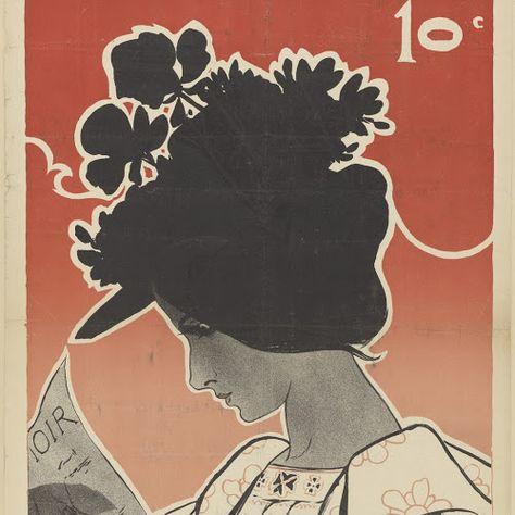 Art Nouveau In Het Rijksmuseum.Affiche Voor Het Tijdschrift Le Chat Noir Leonce Burret