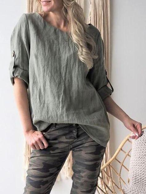 Short Sleeves Solid Color Blouses&shirts Tops – Jartini blouses shirts style blouses designs blouses for women casual women tops shirt blouse#shirts#sweatheart#croptop#shirtdesigh#fashion