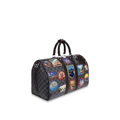 123b9d9da88f View 2 - Damier Graphite Canvas TRAVEL ALL COLLECTIONS Keepall 45 ...