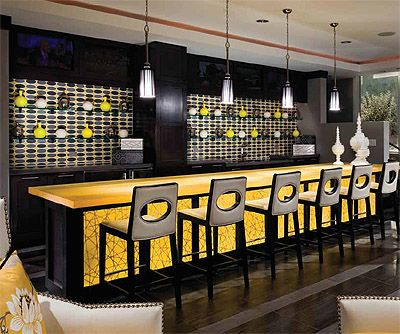 I Like The Bar Top And The Backlit Area Of The Front Too | Boutique Bowling  Alley Design | Pinterest | Bar, Commercial Interiors And Commercial